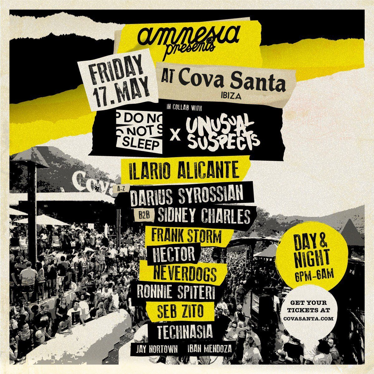 Do Not Sleep Cova Santa Ibiza Friday 17th May 2019