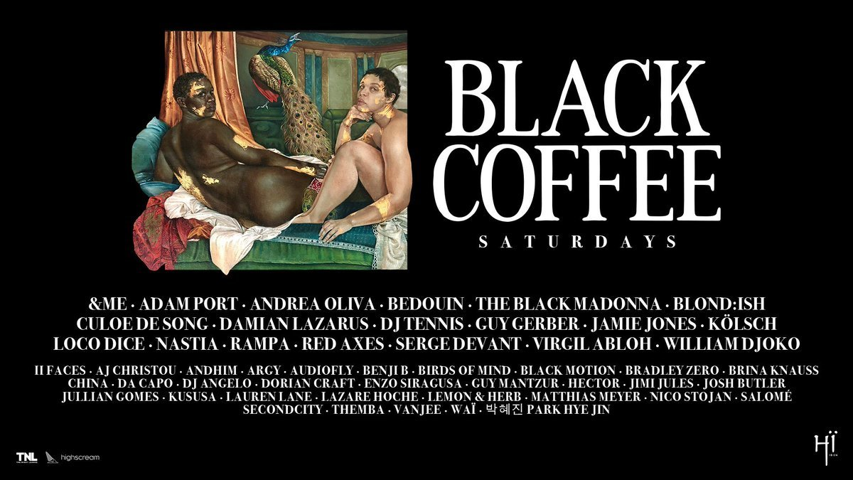 Black Coffee HÏ Ibiza 2019 Season line ups
