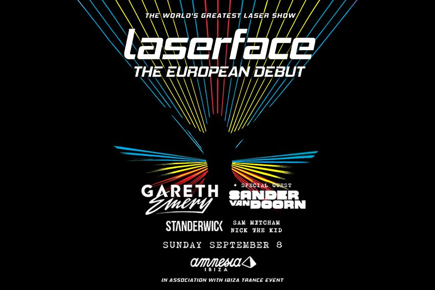 Laserface by Gareth Emery takes over Amnesia Ibiza