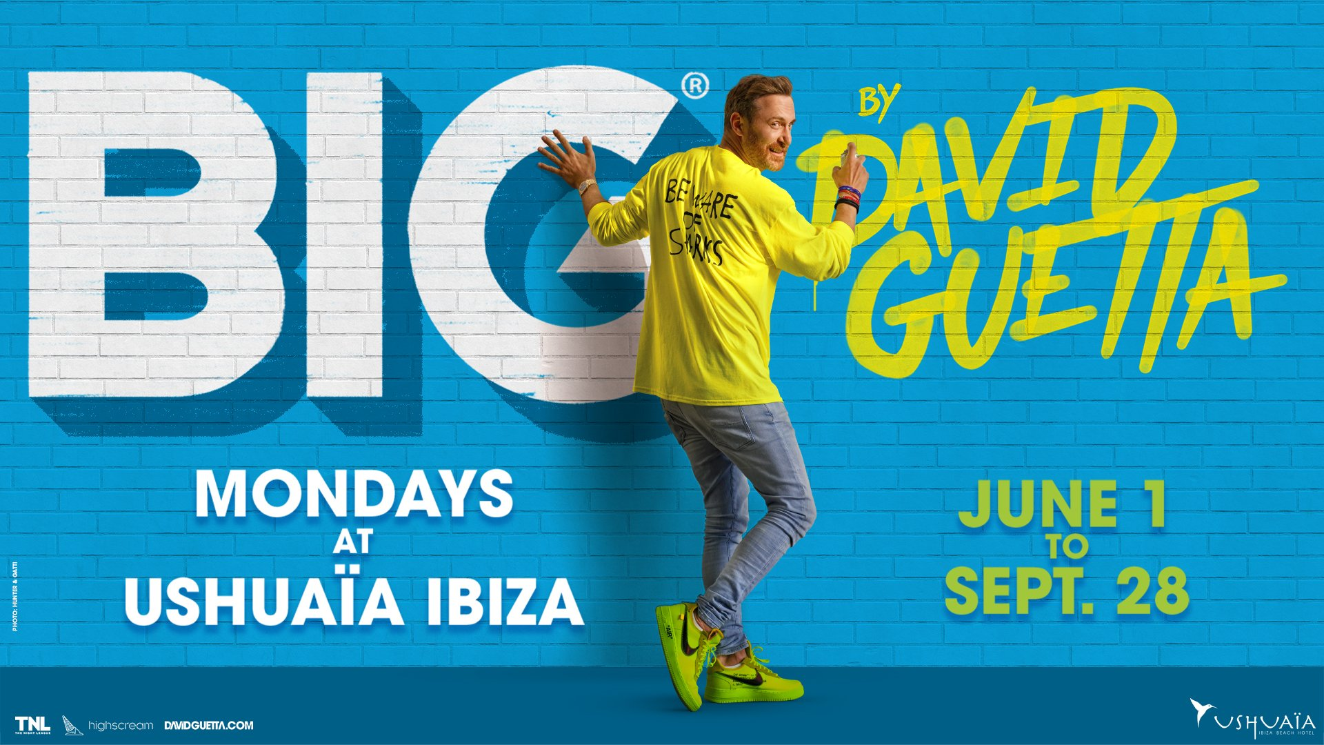BIG by David Guetta returns to Ushuaïa Ibiza for 2020