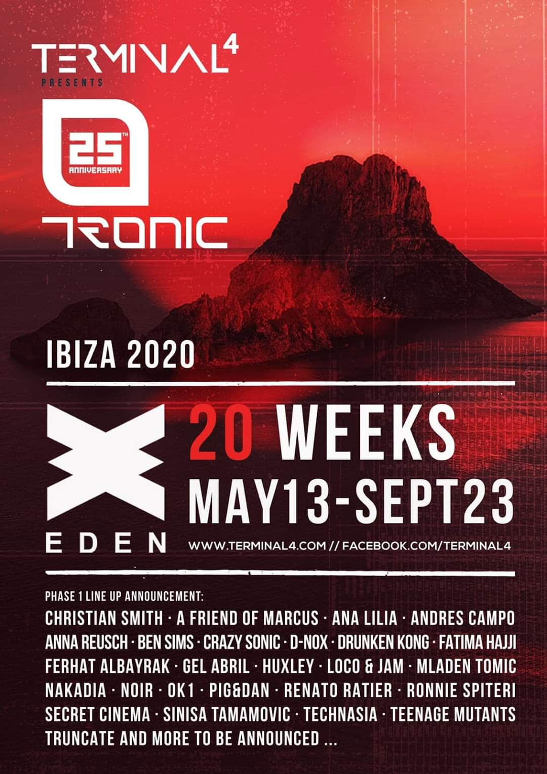 Terminal 4 presents Tronic Eden 2020